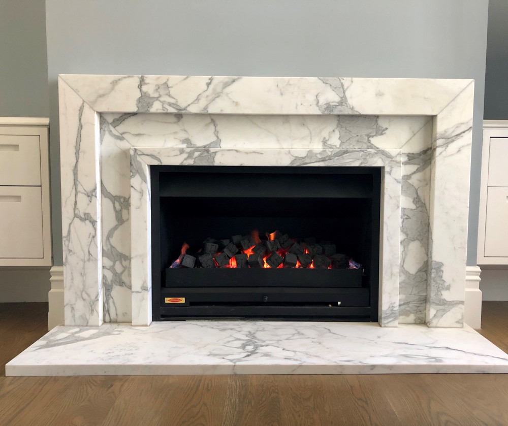 Statuario marble Fire surround v3