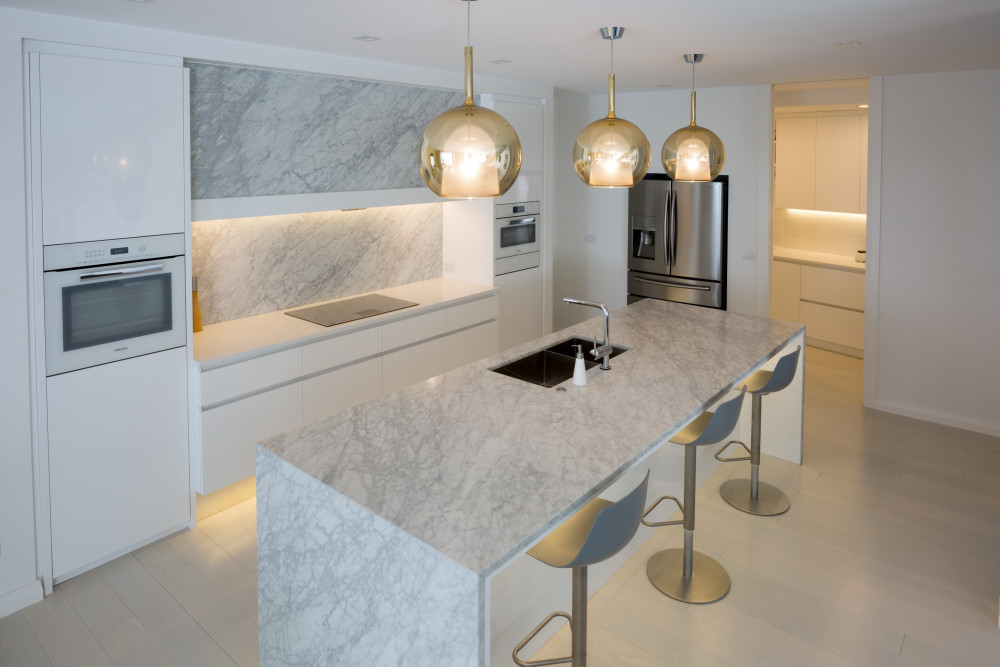 Benchtop splashbacks Carrara Goia
