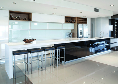 Supreme White Diamondstone Kitchen