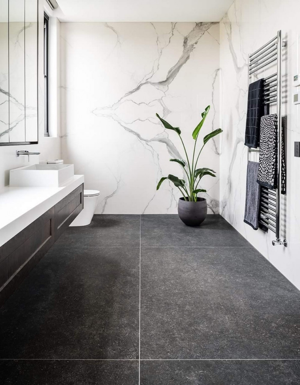 Statuario porcelain Bathroom