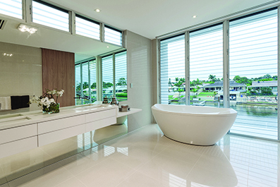 Pure white bathroom Diamondstone