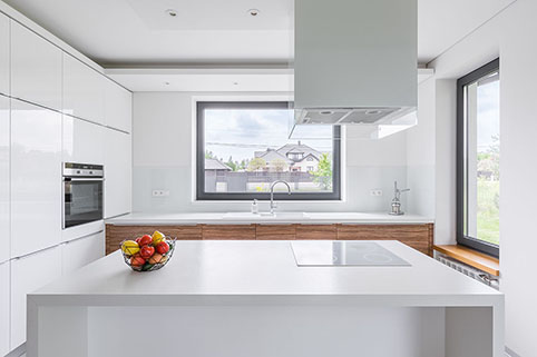 Supreme White Diamondstone small kitchen